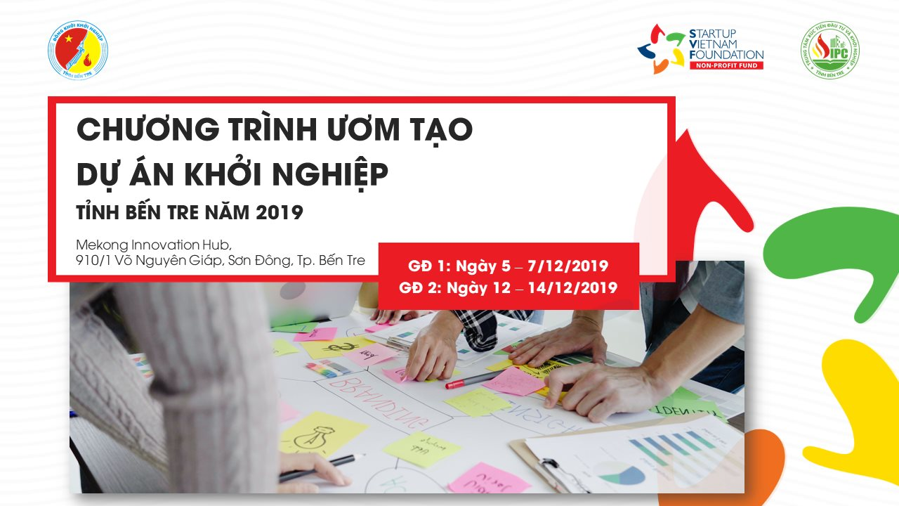 Chương trình ươm tạo dự án khởi nghiệp tỉnh Bến Tre 2019